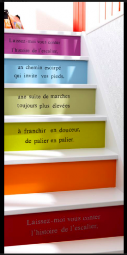 messages dans l 39 escalier anicdotes. Black Bedroom Furniture Sets. Home Design Ideas